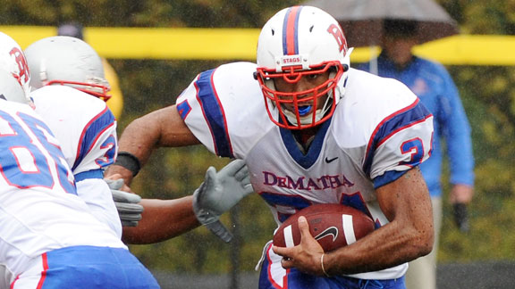 Video clip cover image: Dematha vs. Good Counsel game is featured, plus the top plays of the week