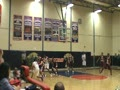 Ken Rock Drive to basket against Holy Cross