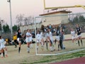 Bullard'S Erin Banda sweet corner kick for goal